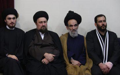 دیدار ابراهیم صنوبر پدر صلح ایران با حضرت آیت الله سید حسن خمینی