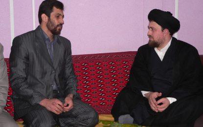دیدار استاد ابراهیم صنوبر پدر صلح ایران با حضرت آیت الله سید حسن خمینی